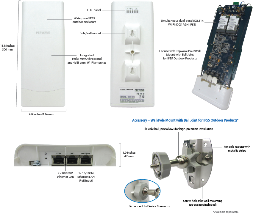 Device Connector - Outdoor IP55 CompactSpecifications