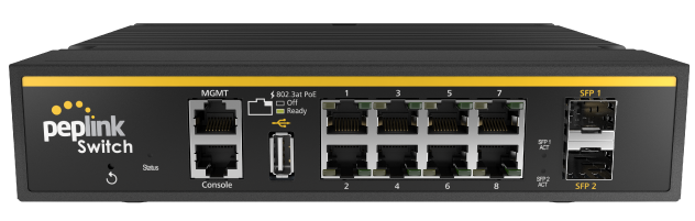 Peplink 8-port SD Switch Rugged